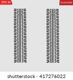 tire tracks vector | Shutterstock .eps vector #417276022
