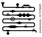 vector pipeline silhouette ... | Shutterstock .eps vector #417278605
