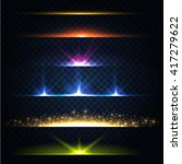 abstract lens flares collection.... | Shutterstock .eps vector #417279622