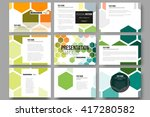 set of 9 vector templates for... | Shutterstock .eps vector #417280582