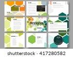 set of 9 vector templates for... | Shutterstock .eps vector #417280582