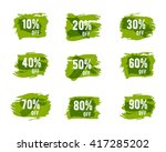 green  ecology sale percents.... | Shutterstock . vector #417285202