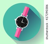 wrist watches smart clock icon. ... | Shutterstock .eps vector #417290386