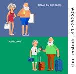 character senior  age travelers.... | Shutterstock .eps vector #417292306