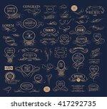 set of elegant calligraphic... | Shutterstock .eps vector #417292735