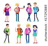 vector detailed character flat... | Shutterstock .eps vector #417292885