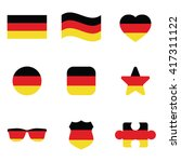 flag of germany icon set .... | Shutterstock .eps vector #417311122