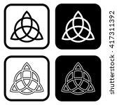 triquetra symbol . vector... | Shutterstock .eps vector #417311392