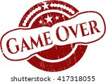 game over grunge stamp