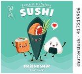 vintage sushi poster design...   Shutterstock .eps vector #417319906