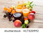assortment of fresh juices and... | Shutterstock . vector #417320992