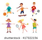 collection of cute happy... | Shutterstock .eps vector #417322156