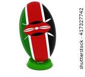 kenya rugby   kenyan flag on... | Shutterstock . vector #417327742