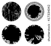 vector set of black circle... | Shutterstock .eps vector #417334042