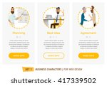 business characters set.... | Shutterstock .eps vector #417339502