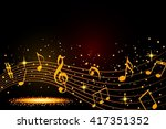abstract musical background... | Shutterstock .eps vector #417351352