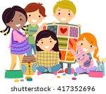 stickman illustration of kids...   Shutterstock .eps vector #417352696
