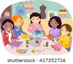 stickman illustration of a... | Shutterstock .eps vector #417352726