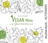 hand drawn vector typographic...   Shutterstock .eps vector #417354055