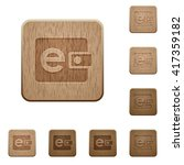 set of carved wooden e wallet... | Shutterstock .eps vector #417359182