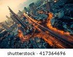 bangkok downtown traffic | Shutterstock . vector #417364696