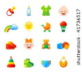 baby clothing and accessories... | Shutterstock .eps vector #41736517
