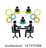 teamwork business design  | Shutterstock .eps vector #417370588