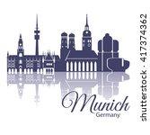 munich skyline  detailed... | Shutterstock .eps vector #417374362