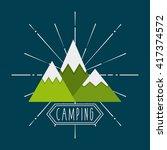 camping trip design  | Shutterstock .eps vector #417374572