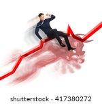 bull market concept on stock... | Shutterstock . vector #417380272