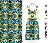 vector fashion illustration.... | Shutterstock .eps vector #417382648