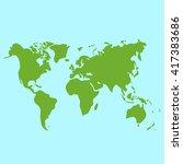 vector hand drawn green world... | Shutterstock .eps vector #417383686