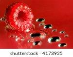 close up of a fresh raspberry | Shutterstock . vector #4173925