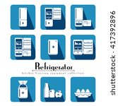 refrigerator appliance vector...