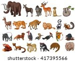 different type of wild animals... | Shutterstock .eps vector #417395566