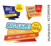 super sale paper banner. sale... | Shutterstock .eps vector #417399598