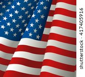 illustration of waving usa flag   Shutterstock .eps vector #417405916