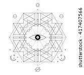 mystical geometry symbol.... | Shutterstock .eps vector #417407566
