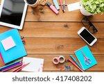 education  school supplies  art ... | Shutterstock . vector #417408202