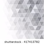 gray white grid mosaic... | Shutterstock .eps vector #417413782