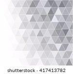 gray white grid mosaic...   Shutterstock .eps vector #417413782