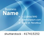 blue abstract template for card ... | Shutterstock .eps vector #417415252