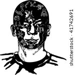 illustration of face of... | Shutterstock .eps vector #41742691