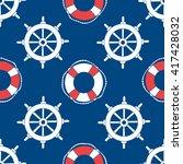 offshore hand drawn seamless... | Shutterstock .eps vector #417428032