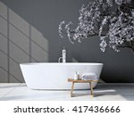 Modern Grey Bathroom With...