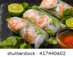salad spring roll of asian wind ... | Shutterstock . vector #417440602