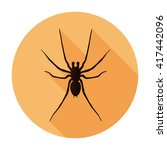 spider icon flat vector insect... | Shutterstock .eps vector #417442096