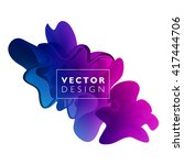vector abstract color cloud. ... | Shutterstock .eps vector #417444706