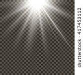 glow light effect  isolated...   Shutterstock .eps vector #417453112