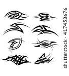 tribal pattern | Shutterstock .eps vector #417453676